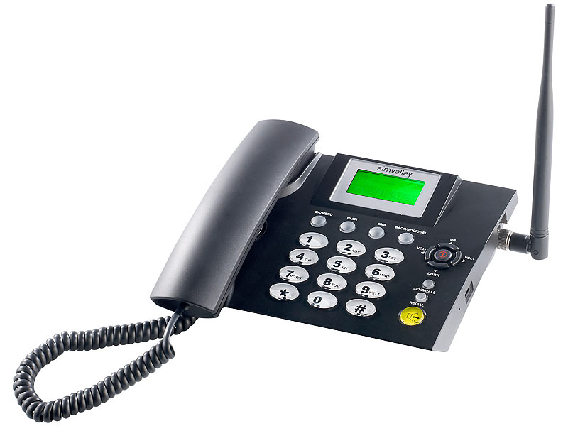 simvalley communications GSM-Tischtelefon TTF-402 mit Akku-Betrieb (refurbished)