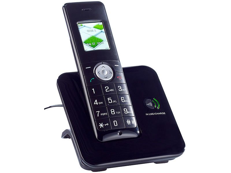 simvalley communications DECT-Schnurlostelefon FNT-1060.komfort, GAP, ECO-DECT Plus