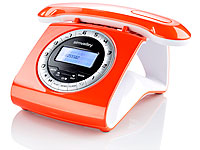 Retro-DECT-Schnurlostelefon mit Anrufbeantworter orange (refurbished)