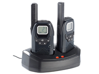 simvalley communications Profi-Walkie-Talkie-Set PMR bis 10 km mit VOX