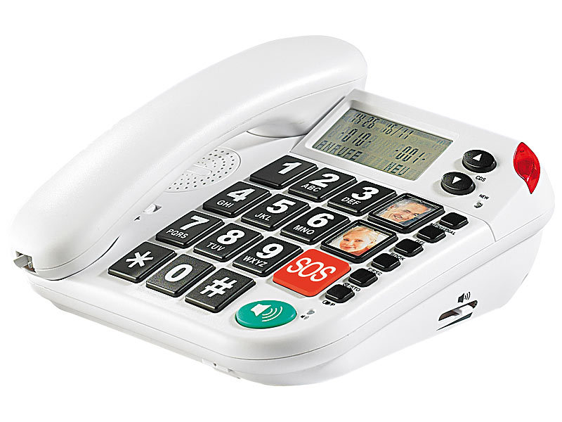simvalley communications Notruf-Senioren-Telefon mit SOS-Taste (refurbished)