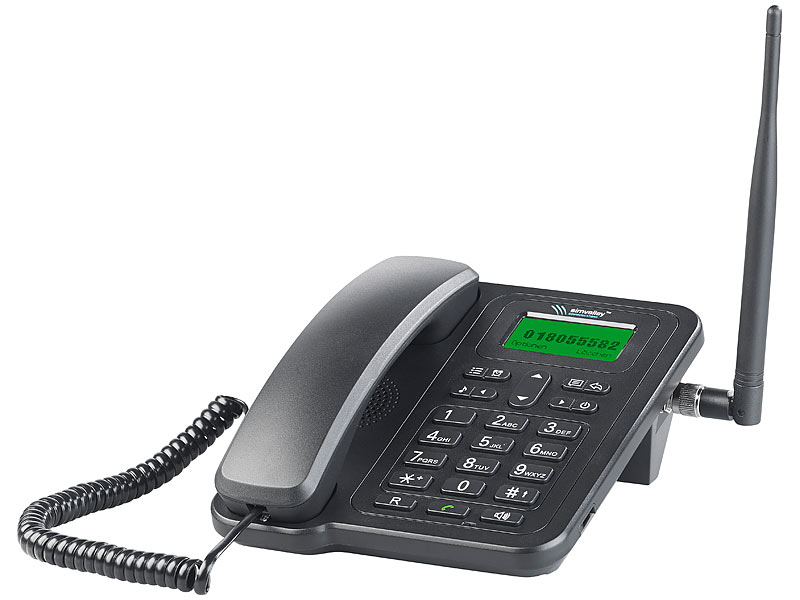 simvalley communications GSM-Telefon TTF-401 mit SMS-Funktion & Akku, Vertrags & SIM-Lock-frei