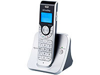 simvalley communications DECT-Schnurlostelefon mit Anrufbeantworter FNT-1055.ab, GAP