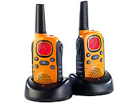 simvalley communications PMR-Funkgeräte-Set im Koffer WT-100.nr, Notruf, bis 10 km; Walkie-Talkie Headsets Walkie-Talkie Headsets Walkie-Talkie Headsets