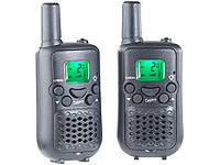 simvalley communications 2er-Set Walkie-Talkies mit VOX-Funktion und 5 km Reichweite