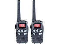 simvalley communications Profi-Walkie-Talkie-Set, bis 10 km, VOX, Akkus, USB-Ladeport, 2er-Set