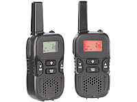 simvalley communications Walkie-Talkie-Set m. VOX, 5 km Reichweite, Micro-USB-Ladeport, 2er-Set