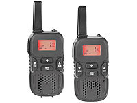 simvalley communications Walkie-Talkie-Set m. VOX, 5 km Reichweite, Micro-USB-Ladeport, 2er-Set; DECT-Freisprechboxen DECT-Freisprechboxen DECT-Freisprechboxen DECT-Freisprechboxen