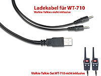 simvalley communications USB-Doppel-Ladekabel für Walkie-Talkie-Set WT-710, 80 cm