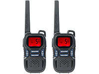 simvalley communications 2er-Set Profi-Walkie-Talkies mit VOX, 10 km, USB, extragroßes Display