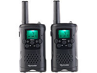 simvalley communications 2er-Set Walkie-Talkies mit VOX, 10 km Reichweite, LED-Taschenlampe; Walkie-Talkie Headsets Walkie-Talkie Headsets Walkie-Talkie Headsets Walkie-Talkie Headsets