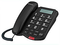 simvalley communications Großtasten-Telefon XLF-40, schwarz (refurbished)