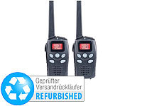 simvalley communications 2er-Set Profi-Walkie-Talkies, bis 10km, VOX, Akkus (Versandrückläufer)