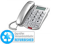 simvalley communications Großtasten-Telefon XLF-40, silber (refurbished)
